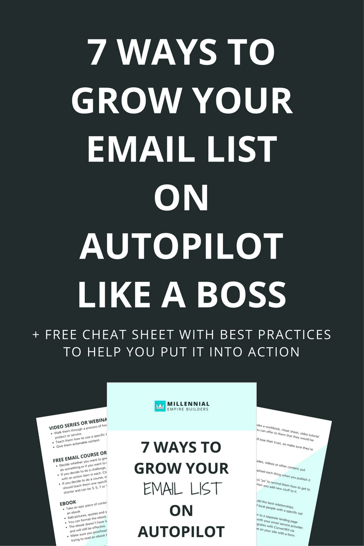Regardless of your industry, growing your email list is one of the most important things you can do for your business... but constantly finding new leads who are willing to raise their hand and say they're interested in doing business with you isn't always easy (unless you have the right strategies of course). In this article, you'll learn how to get people to BEG to opt-in to your email list. Click through to learn more and to get the best practices cheat sheet.