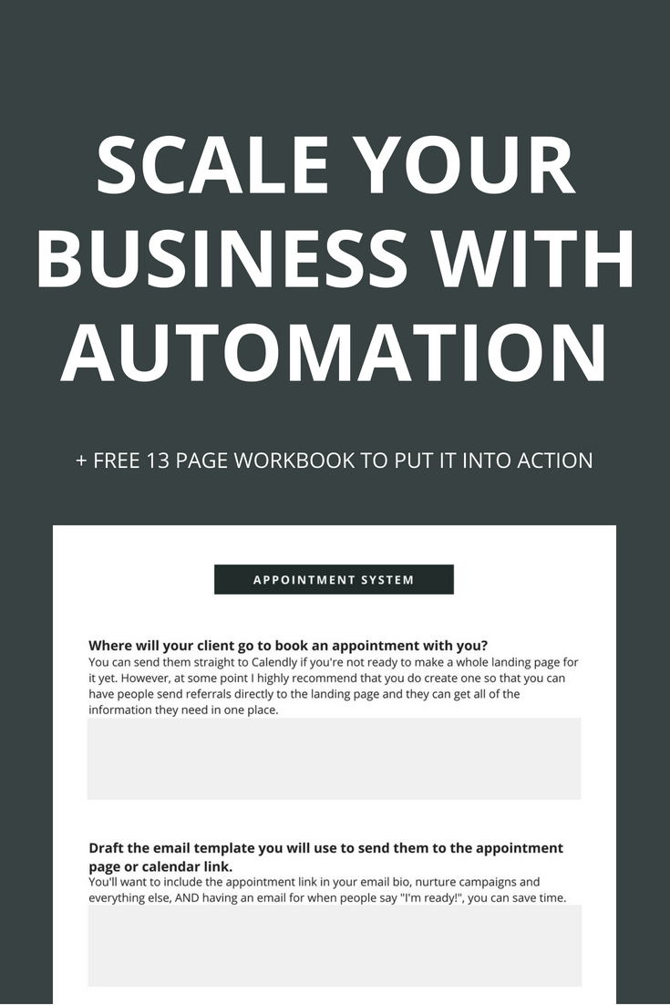 "How much time do you spend on stuff like booking appointments, customer service and onboarding clients? If the answer is ""too much"", it's time to automate your business so that you can elevate your client's experience AND do it without burning out."