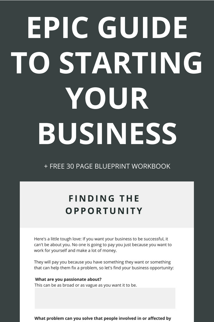 Starting a business can seem super overwhelming and daunting so this epic guide breaks it down into a step by step process with EVERYTHING you need to know to plan your business, launch it and start making money. You'll also get a free 30 page workbook to help you put it into action. Click through to get yours!