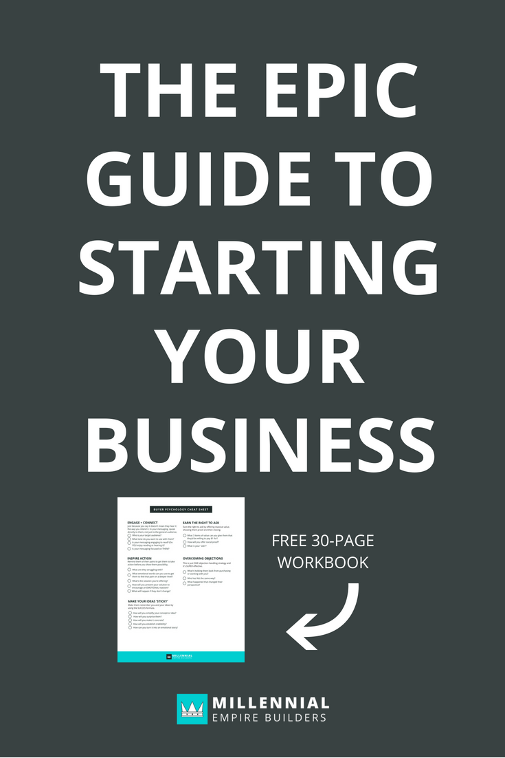 Starting your business doesn't have to be overwhelming or scary. This epic guide walks you through ev-er-y-thing you need to know to start, launch and scale your business.