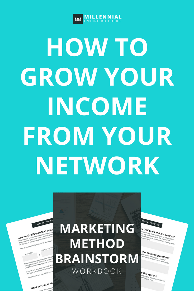 Networking can bring you a ton of opportunity, so long as you keep in touch with them and stay top of mind. In this article, you'll get 7 of my favorite business marketing ideas to grow your income and make sure your network thinks of you first. Click through to read the article and download the free workbook.