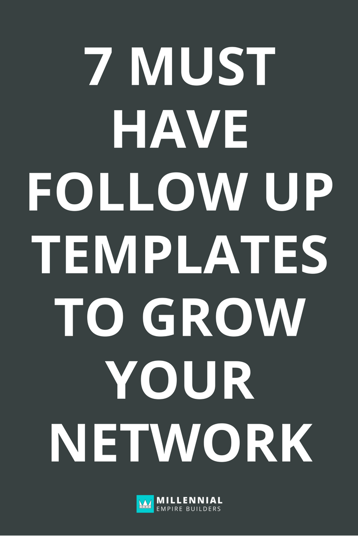 Networking follow-up email templates make it a million times easier to grow your network without burning out. Click through to learn the 7 templates that you absolutely have to have in order to reach your goals.