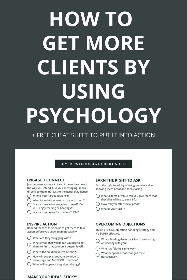 "Do you speak in a way that your ideal client goes ""omg, you're talking about me... Take my money!"" If not, with a few tweaks to your messaging, you can totally change the way your prospects react to you. Click through to learn more and download the free cheat sheet."